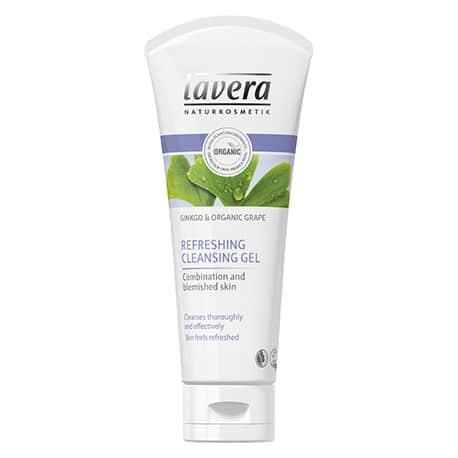 Lavera Gel limpiador refrescante Uva y Ginkgo