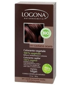 Logona Tinte Colorante Vegetal Color Castaño Oscuro 090 100gr