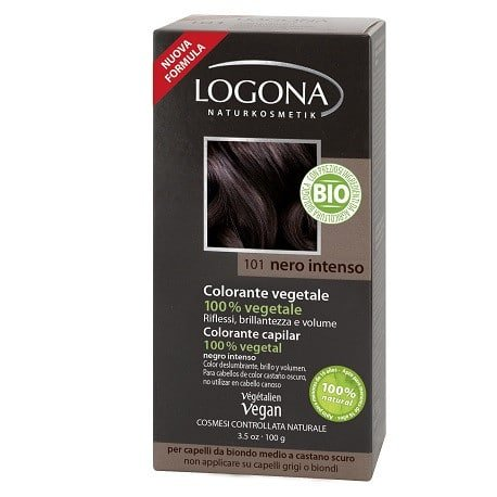 Logona Tinte Colorante Vegetal Color Negro Intenso 101 100gr