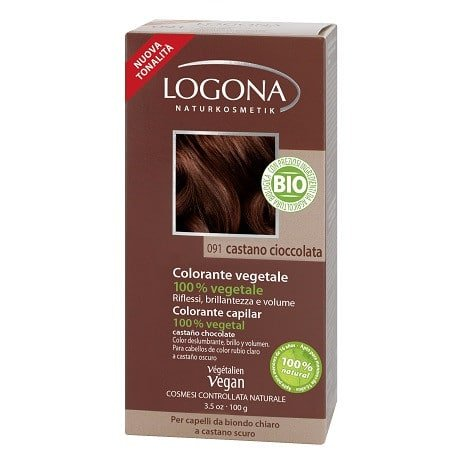 Logona Tinte Colorante Vegetal Color Castaño Chocolate 091 100gr