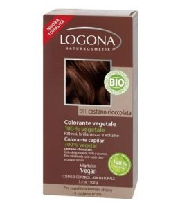 Logona Tinte Colorante Vegetal Color Castaño Cafe 092 100gr