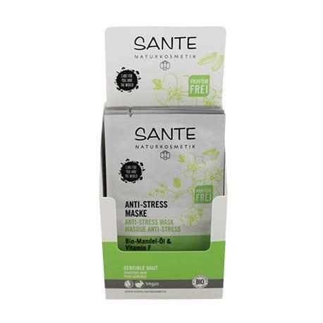 Sante Mascarilla Antiestres con Aceite De Almendras Bio y Vitamina F 2X4ml