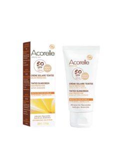 Acorelle Creme facial solar color apricot SPF50 50ml