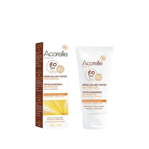 Acorelle Creme facial solar color apricot SPF50