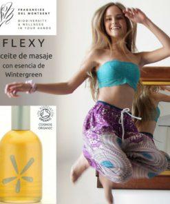 Flexy - Aceite de masaje aromaterapéutico, Ecológico y 100% Orgánico 100ml