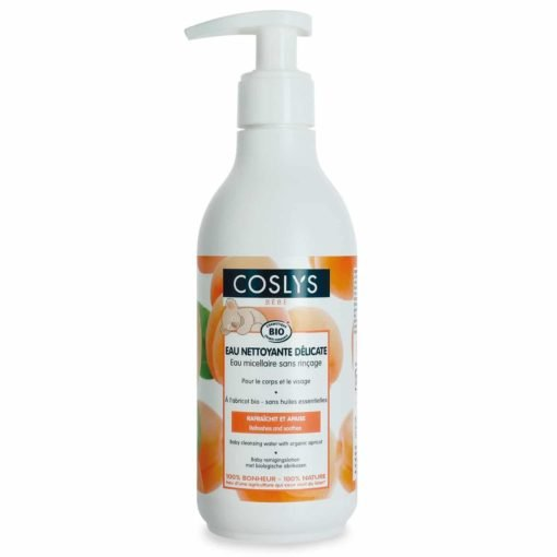 Coslys Bebé Agua micelar refrescante con Albaricoque orgánico