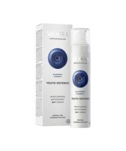 Mossa Crema Facial de Dia Hidratante Antioxidante Youth Defence