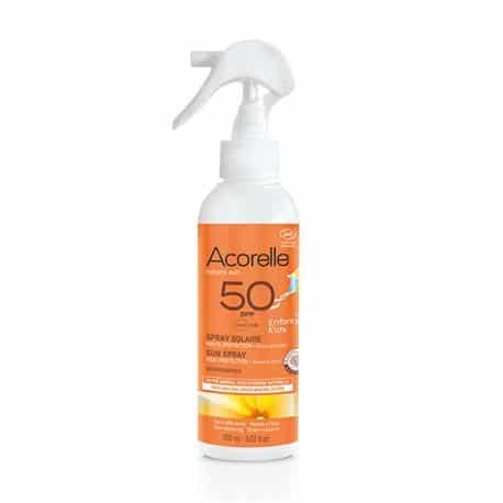 Acorelle Spray solar niños SPF50 150ml - iunatural