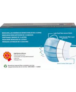 Mascarillas Higiénicas tres Capas BFE 99%. Caja de 50 unidades - iunatural