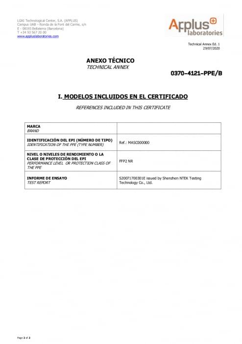 Mascarilla FFP2-blanca-certificado