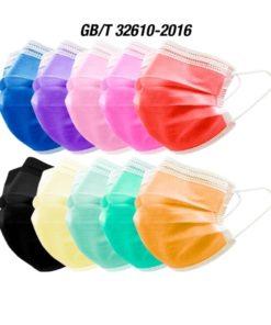 Mascarillas Higiénicas de Colores de tres capas