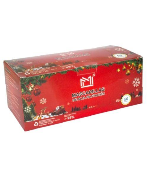 Mascarilla Higienica tres capas de Navidad