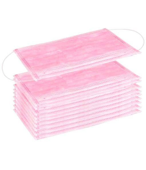 Mascarillas Higiénicas Rosas de tres capas