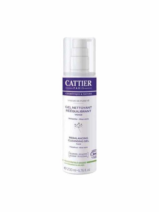 Cattier Gel Limpiador Facial Equilibrante para Piel Grasa y Mixta