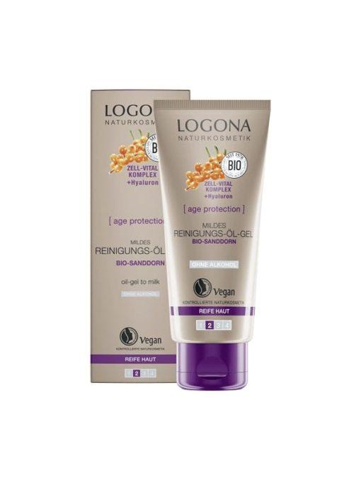 Logona Aceite Gel Limpiador Facial Suave Age Protection