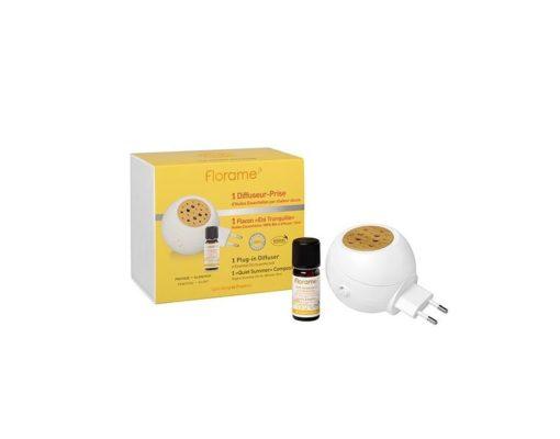 Florame Difusor Eléctrico + Composición BIO de Aceites Esenciales Antimosquitos con Citronella