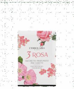 L'Erbolario 3 Rosa Sobre Perfumado para Cajones