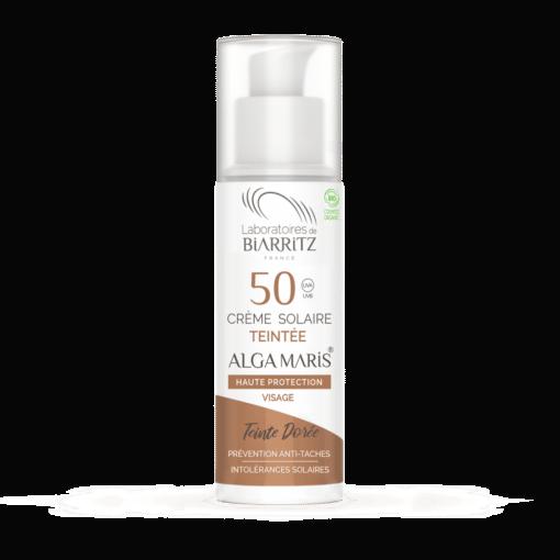 Laboratoires de Biarritz Crema Solar Facial Color Dorado SPF50